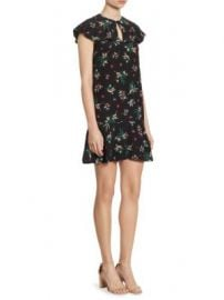 REDValentino - Floral-Print Silk Keyhole Dress at Saks Fifth Avenue