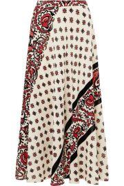 REDValentino   Printed silk midi skirt at Net A Porter