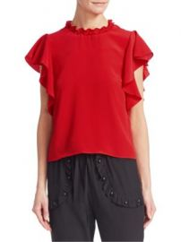 REDValentino - Summer Crepe Blouse at Saks Fifth Avenue