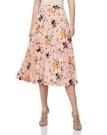 REISS Andi Floral Pleated Skirt Women - Bloomingdale s at Bloomingdales