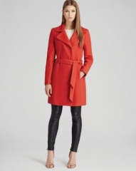 REISS Coat - Lavina Textured Fit andamp Flare at Bloomingdales