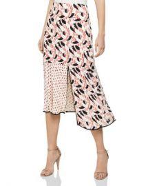 REISS Eline Spliced Printed Skirt Women - Bloomingdale s at Bloomingdales