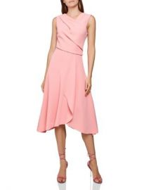 REISS Marling Sleeveless Draped Dress Women - Bloomingdale s at Bloomingdales