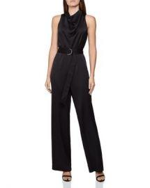 REISS Milo Sleeveless Belted Jumpsuit Women - Bloomingdale s at Bloomingdales