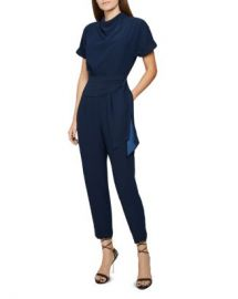 REISS Silva Draped Belted Jumpsuit Women - Bloomingdale s at Bloomingdales