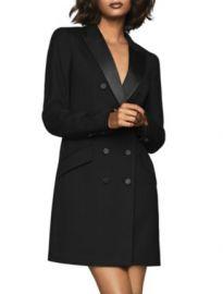 REISS Sofia Satin-Trimmed Tux Dress Women - Bloomingdale s at Bloomingdales
