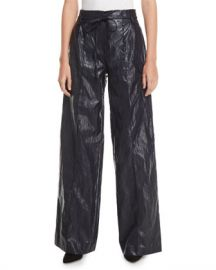 REJINA PYO Eve High-Rise Crinkle Wide-Leg Pants at Neiman Marcus