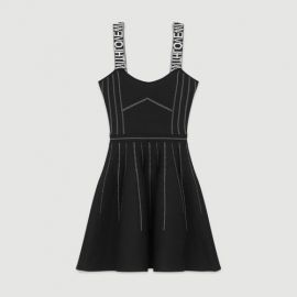 RELIEF Reversible weaved short dress at Maje