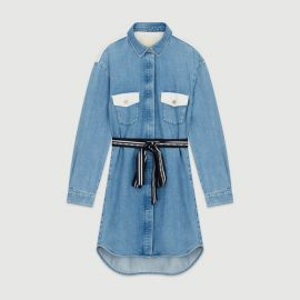 RELMI Denim shirt dress at Maje