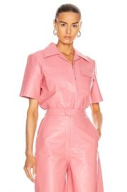 REMAIN Sienna Leather Shirt in Conch Shell   FWRD at Forward