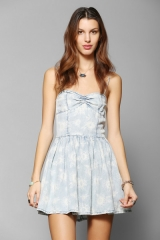 RES Denim Sunflower Sweetheart Dress at Urban Outfitters