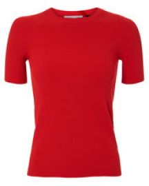 RIB KNIT ESSENTIAL RED TEE helmut lang at Intermix