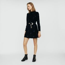 RIPICOW Long-sleeve dress with embroidered at Maje