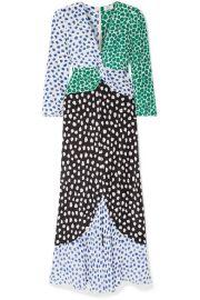RIXO - Chelsea paneled printed silk-crepe midi dress at Net A Porter