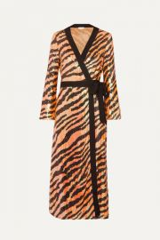RIXO - Gigi tiger-print sequined chiffon wrap dress at Net A Porter