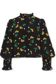 RIXO - Jenny ruffled floral-print silk-crepe top at Net A Porter
