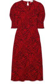 RIXO - Jess animal-print crepe midi dress at Net A Porter