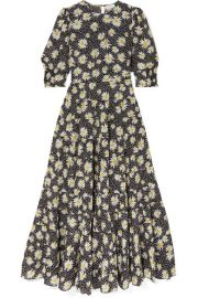 RIXO - Kristen tiered floral-print cotton and silk-blend dress at Net A Porter
