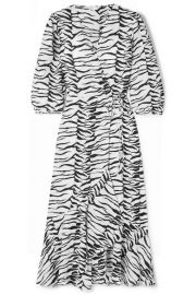RIXO - Noleen tiger-print cotton-voile wrap dress at Net A Porter