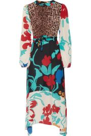RIXO - Penelope printed silk midi dress at Net A Porter