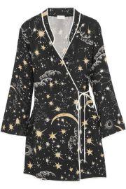 RIXO London   Iris printed crepe wrap dress at Net A Porter