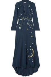 RIXO London   Margo embellished embroidered georgette midi dress at Net A Porter