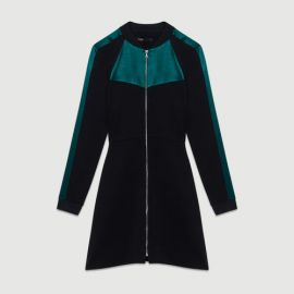 RIZIA Bicolor bomber dress at Maje