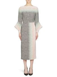 ROLAND MOURET - GOODWIN FLUTED SLEEVE PENCIL DRESS at Saks Fifth Avenue