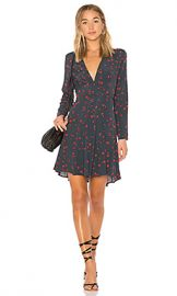 ROLLA S Dancer Wrap Dress in Navy Galaxy from Revolve com at Revolve