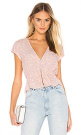 ROLLA S Lula Blouse in Soft Pink from Revolve com at Revolve