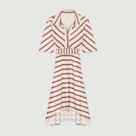 ROMALA Long striped shirt dress at Maje