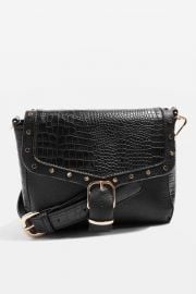 ROMEO Crocodile Effect Cross Body Bag at Topshop