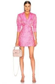 ROTATE Double Breasted Mini Blazer Dress in Pink Carnation   FWRD at Forward
