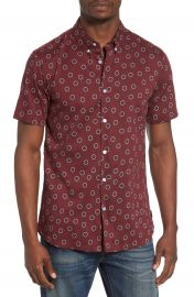 RVCA Ring Print Woven Shirt at Nordstrom