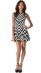 RVN Graphic Stripe Flare Dress at Shopbop