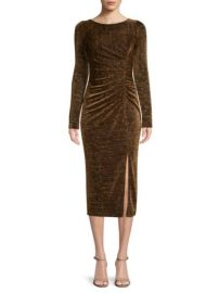 Rachel Zoe Lovey Metallic Jersey Midi Dress at Saks Fifth Avenue