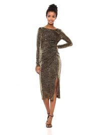 Rachel Zoe Lovey Metallic Jersey Midi Dress at Amazon