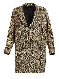 Rachel Comey - Baby Zebra Jacquard Cocoon Coat at Saks Fifth Avenue