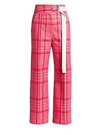 Rachel Comey - Elo Plaid Belted Pants at Saks Fifth Avenue