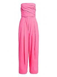 Rachel Comey - Tristan Strapless Pleated Jumpsuit at Saks Fifth Avenue