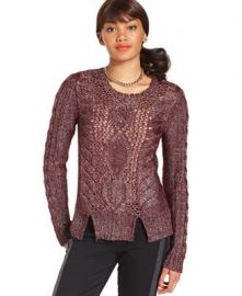 Rachel Roy Cable Knit Sweater at Macys