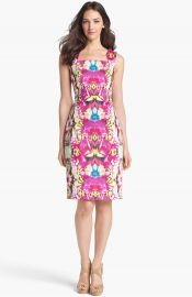 Rachel Roy Stretch Cotton Sheath Dress at Nordstrom