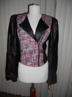 Rachel Roy tweed and leather jacket at eBay at Ebay