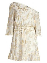 Rachel Zoe - Flora Metallic Silk One-Shoulder Dress at Saks Fifth Avenue