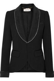 Rachel Zoe - Tyler crystal-embellished satin-trimmed crepe blazer at Net A Porter