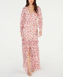 Rachel Zoe Yvonne Ruffled Lip-Print Gown   Reviews - Dresses - Women - Macy s at Macys