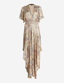 Rachel paisley-print satin dress at Selfridges