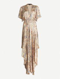 Rachel paisley-print satin dress at Selfridges