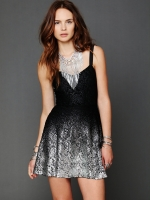 Rachels black and silver dress at Free People
