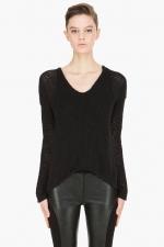 Rachels black sweater at SSENSE at Ssense